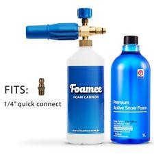 """Foamee Snow Foam Lance Cannon Detergent Bundle - 1/4"""" inch quick connect release"""