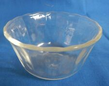 Vintage Fire-King Clear 6oz CUSTARD GLASS BOWL Scalloped Edge #454