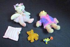 Mixed Lot 5 Primitive Miniature Cloth Bear Dolls w/Access Build-A-Bear Pin 2007