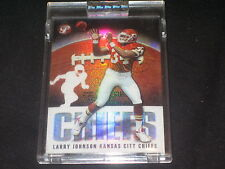 LARRY JOHNSON GENUINE PACK PULLED AUTHENTIC FOOTBALL INSERT CARD REFRACTOR /1449