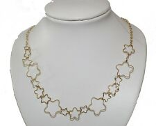 Attractive Gold Open Star shapes Necklace