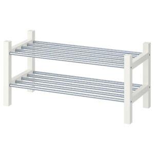"""IKEA TJUSIG Shoe rack, 31 1/8 """". white, 301.526.38"""