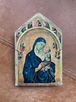 Wooden Vintage Style The Virgin & Child Wall Hanging Plaque