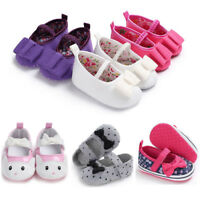 Baby Infant Kids Girl Bowknot Shoes Soft Sole Crib Prewalker Newborn Shoes