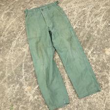 Vintage 60s 70s Distressed Worn Vietnam War Army Military Chino Uniform Pants