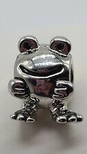 Silver Frog Pugster Charm Bead Add On To European & Pandora Bracelets