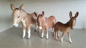 Beswick Donkey Family