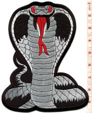 Black cobra snake kung fu tattoo BIG XL 7 X 9 in. applique iron-on patch S-1559
