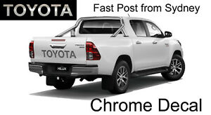 Toyota HILUX Tailgate Chrome Vinyl Film Cut Decal Cool Bumper Sticker
