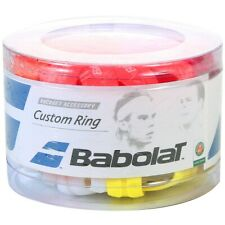 60 PACK: BABOLAT CUSTOM RING COLOR RUBBER GRIP BAND FOR TENNIS RACQUETS