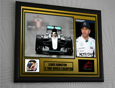 """Lewis Hamilton Black large A3 Framed Signed """"Great Gift"""" Gold 44 Limited Edition"""