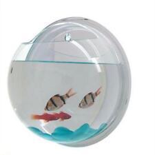 Well Acrylic Mount Hanging Fish Bowl Aquarium Beta Goldfish Hanger Plant Tank