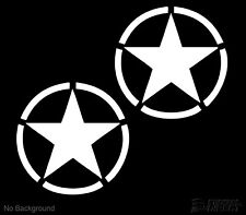 Army Jeep Stars Decal Vinyl Stickers Set of 2 140mm Cars Walls Buy 2 Get 1 Free