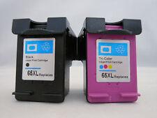 HP 65XL BK & HP65 XL CLR Inkjet for HP DeskJet 3720 3730 3732 3752 3755 3758 2pK