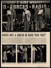 1945 BING CROSBY, BOB HOPE & FRANK SINATRA - Dick Tracy 2 Page VINTAGE ARTICLE