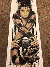 Steven Holliday 1988 Beetlejuice Lydia Movie Art Print Poster Mondo Tim Burton