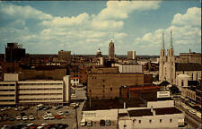 Fort Wayne Indiana postcard 1977 Skyline from the Lincoln Lifeinsurance Building