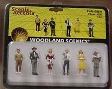 O scale Railroad PEDESTRIANS Woodland Scenics Train People # 2763