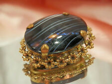 Vintage 1960's Miracle Art Glass Brooch w/Original Tag-Made In England  1960o