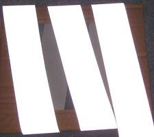 "SILVER fire retardant REFLECTIVE TAPE sew on 3'x2"""