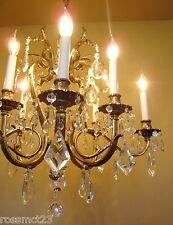 Vintage Lighting glamorous 1970s crystal chandelier by Lightolier