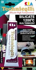 Alta Temperatura 1200'c Pegamento Adhesivo Para Coleccionistas Hornos De Escape Chimenea 70 Ml