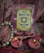 Aphrodite Love Six Tea Lights Boxed Wiccan Handmade Witchcraft Rose & Violet