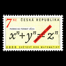 Czech Republic 2000 - World Mathematical Year - Sc 3122 Mnh