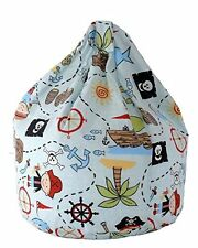 Large Adult Blue Pirate Island Bean Bag With Beans By Bean Lazy