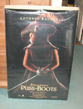 Puss In Boots Antonio Banderas Movie Poster 27 X 40 Black Background