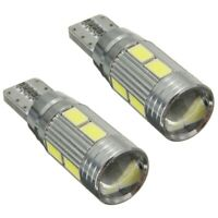 2 X Lampade T10 W5W 5630 10 LED SMD CANBUS luce bianca 6000K Auto 5W L7Y6
