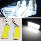 2x HID White 36-LED COB LED Panel Light Car Interior Trunk Map Dome T10 Festoon
