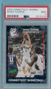 2000 Connecticut Women Diana Taurasi Freshman Rookie PSA 9 MINT 1st Card