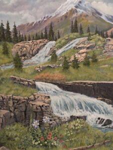 Jim Lang Yankee Basin Colorado Original Landscape Oil Painting on Canvas 24x16