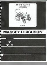 Massey Ferguson 1040 Tractor Diesel Compact Parts Manual Catalog