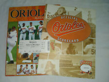 More details for baltimore orioles game day stadium magazine, april 2007 with ticket & scorecard
