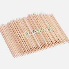 50 X Nail Art orange bâton de bois Cuticule Remover Pusher