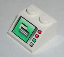 LEGO - Slope 45 2 x 2 with Windows in Computer Screen Pattern - White