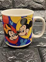 Vintage Disney Characters Mug Donald Plut Goofy Mickey Minnie EUC