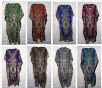 Women Summer Kaftan Viscose Sleepwear Printed Long Maxi Night Kaftan
