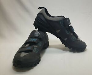 Bontrager Size 9.5  Race Mountain Bike Shoes MTB Inform Esole Gray Blue Womens