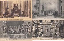 Lot 4 cartes postales anciennes AUCH cathédrale 1