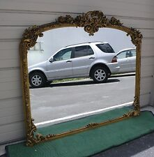 Large Ornate Gold Mirrors in carved wood frame 1800-1850.