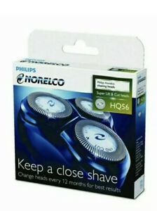 Philips Norelco Hq56 Original 3 Pc Shaver Razor Head Replacement Blades Cutters