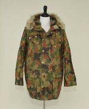MEN'S J.CREW HOODED MILITARY PARKA COAT S ARMY BROWN CAMOUFLAGE SMALL - SAMPLE