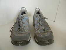 The North Face Gore-Tex Womens Blue & Gray Hiking Shoes Size 11