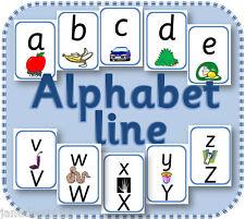 PICTURE ALPHABET LINE / FRIEZE display EYFS KS1 teacher resource on CD