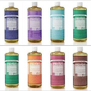 Dr Bronner Castile liquid soap Organic Fair trade 473ml 16oz Vegan essential oil
