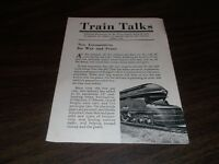 APRIL 1945 PENNSYLVANIA RAILROAD PRR TRAIN TALKS BOOKLET