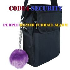 Purple Fur Ball 100 dB personal buzzer alarm and stylish handbag accessory